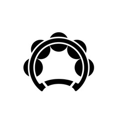 tambourine solid icon vector image