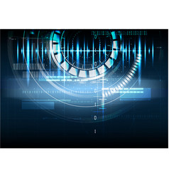 Technological abstract pulse digital interface vector