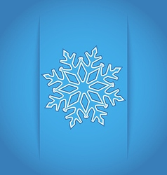Template frame design with Christmas snowflake vector