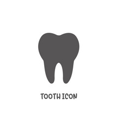 Tooth icon simple flat style vector