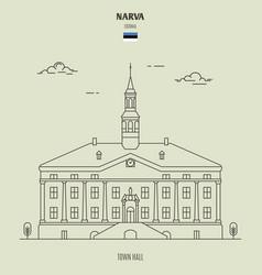 town hall in narva estonia vector image