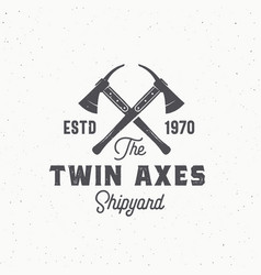 twin axes abstract sign symbol or logo vector image