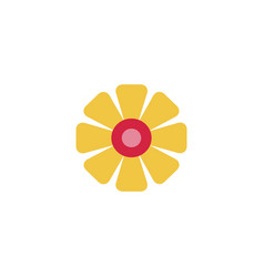 Universal flower icon to use in web and mobile ui vector