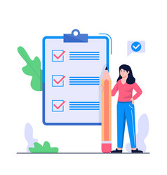 women checklist concept vector image
