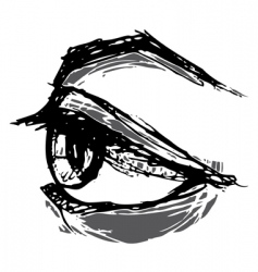 Woodblock eye vector