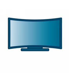Curved Flat Screen Smart TV vector image