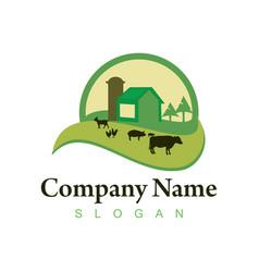 farm logo 2 vector image