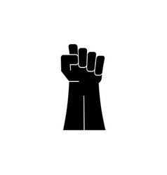 fist hand up icon vector image