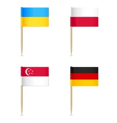 Flags toothpick icon vector image