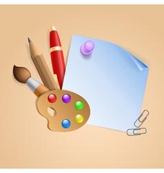 School background 1 vector image