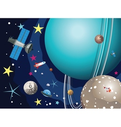 Uranus Planet in the Space2 vector image vector image