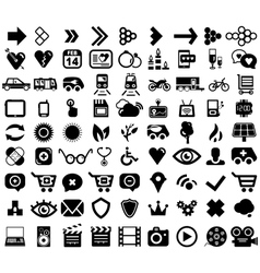 Big set of black universal web icons vector image vector image
