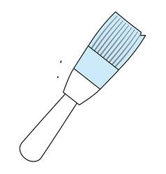 brush paint art vector image