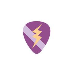 colorful rock emblem with thunder symbol design vector image