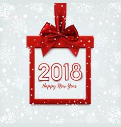 happy new year 2018 desig vector image vector image