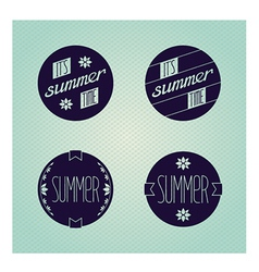 Set of round emblems designed for summer vector image vector image