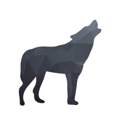 Silhouette of a wolf vector image vector image