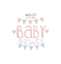Paper Garlands Baby Shower Invitation Design vector image vector image