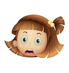 Shocked girl vector image vector image