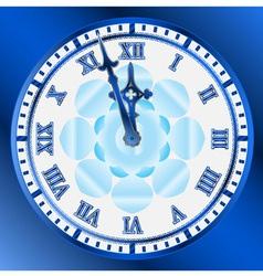 vintage clocks face vector image vector image