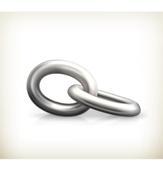 Chain link icon vector