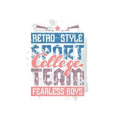 College sport team emblem vector image