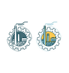 industry industrial enterprise factory logo or vector image vector image