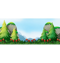 Mushroom and field vector image vector image