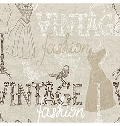 Seamless Vintage background with retro dummy vector image