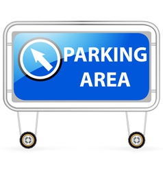 Traffic barrier parking area vector image vector image