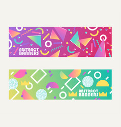 abstract banners shapes brochures flyers vector image