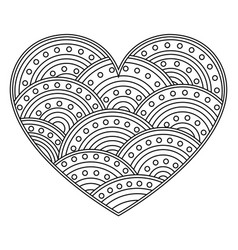 Abstract love heart with ornament of circles page vector