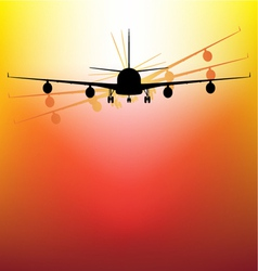 aircraft on sunset vector image