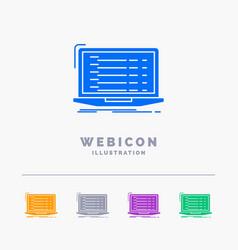 Api app coding developer laptop 5 color glyph web vector