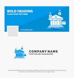 blue business logo template for bank payments vector image