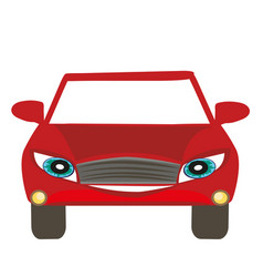 Car cartoon character vector