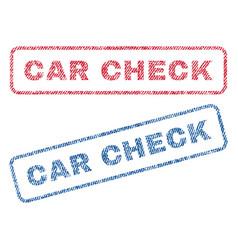 Car check textile stamps vector