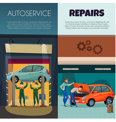 Car service vertical banners set vector