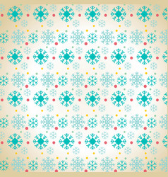 christmas snowflake pattern background vector image