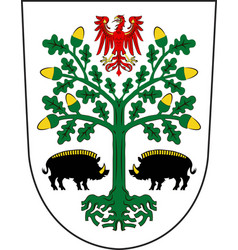 Coat of arms of eberswalde in barnim of vector