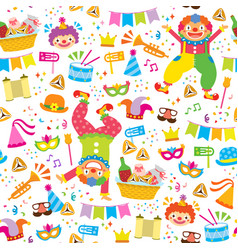 colorful purim pattern vector image