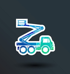 Construction Machines icon button logo symbol vector
