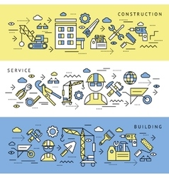 Construction Service Banners Set vector