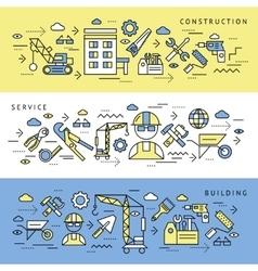 Construction Service Banners Set vector