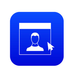 Cursor point man on monitor icon digital blue vector