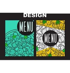 Design menu with doodle pizza Sketch pizza vector image
