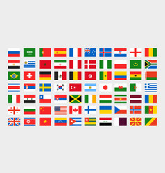 different national flags clip-art collection vector image