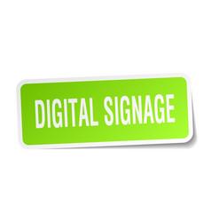 Digital signage square sticker on white vector