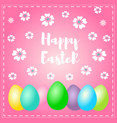 easter greeting card with wish - happy easter vector image