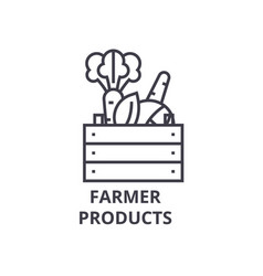 Farmer products line icon outline sign linear vector